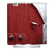 Christmas Barn 4 Shower Curtain