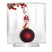 Christmas Bauble Shower Curtain