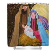 Christmas Blessing Shower Curtain