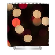 Christmas Bokeh Lights Shower Curtain