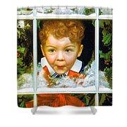 Christmas Boy Shower Curtain