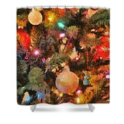 Christmas Branches Shower Curtain