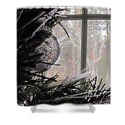 Christmas Bulb Shower Curtain