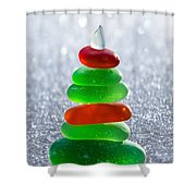 Christmas By The Sea Shower Curtain