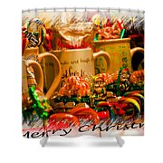 Christmas Candies Shower Curtain