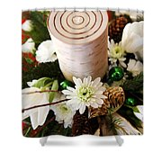 Christmas Candle 1 Shower Curtain