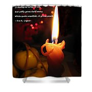 Christmas Candle Greeting Shower Curtain