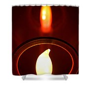 Christmas Candle Reflection Shower Curtain