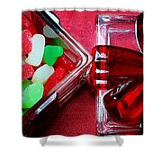 Christmas Candy - Candy Dish - Sweets - Treats Shower Curtain