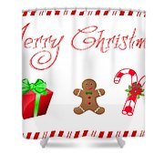 Christmas Card 25 Shower Curtain
