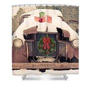 Christmas Car Card Shower Curtain