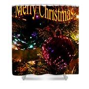 Christmas Card 3 Shower Curtain