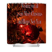 Christmas Card 4 Shower Curtain