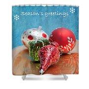Christmas Card 6 Shower Curtain