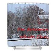 Christmas Card-8 Shower Curtain