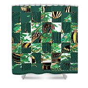 Christmas Card Collage Shower Curtain