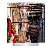 Christmas Card New Orleans Shower Curtain