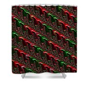 Christmas Cards And Phone Cases Shower Curtain