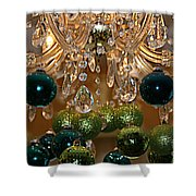 Christmas Chandelier Shower Curtain