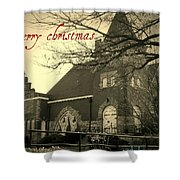Christmas Chapel Shower Curtain