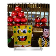 Christmas Characters Shower Curtain