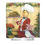 Christmas Chef Shower Curtain