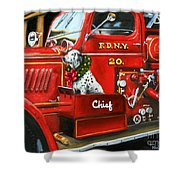 Christmas Chief Shower Curtain