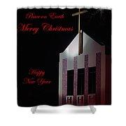 Christmas Church Shower Curtain