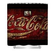 Christmas Coca Cola 1881 Santa Shower Curtain