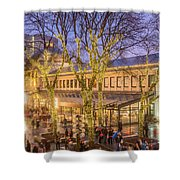 Christmas Crowd At Quincy Market Shower Curtain