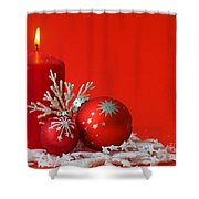 Christmas Decoration Background Shower Curtain
