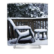 Christmas Eve Deck Chair Shower Curtain