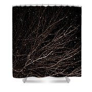 cHRISTMAS eVE sNOW Shower Curtain
