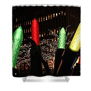 Christmas Festive In New York City Shower Curtain