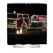 Christmas Fire Truck 2 Shower Curtain