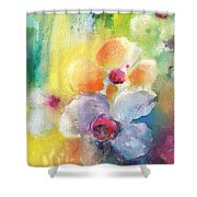 Christmas Flowers For Mom 01 Shower Curtain