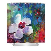 Christmas Flowers For Mom 02 Shower Curtain