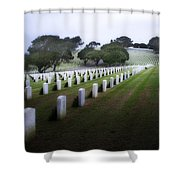 Christmas Fort Rosecrans National Cemetery  Shower Curtain