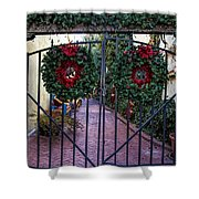 Christmas Gate Shower Curtain