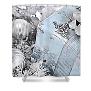 Christmas Gift Box And Decorations Shower Curtain