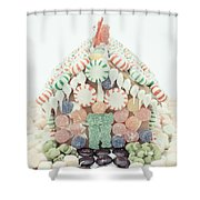 Christmas Gingerbread House Shower Curtain