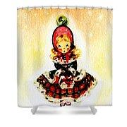 Christmas Girl Shower Curtain