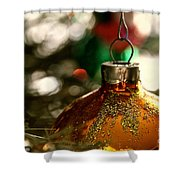 Christmas Gold Shower Curtain