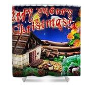 Christmas Greeting Card Iv Shower Curtain