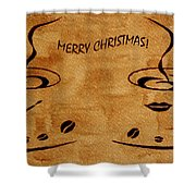 Christmas Greeting Shower Curtain