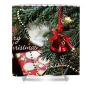 Christmas Greetings Shower Curtain