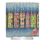 Christmas Greetings  Shower Curtain