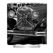 Christmas Grillwork - Bw Shower Curtain