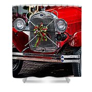 Christmas Grillwork Shower Curtain
