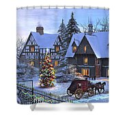 Christmas Homecoming Shower Curtain